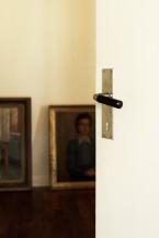 Dörrhandtag funkis med svart bakelithylsa