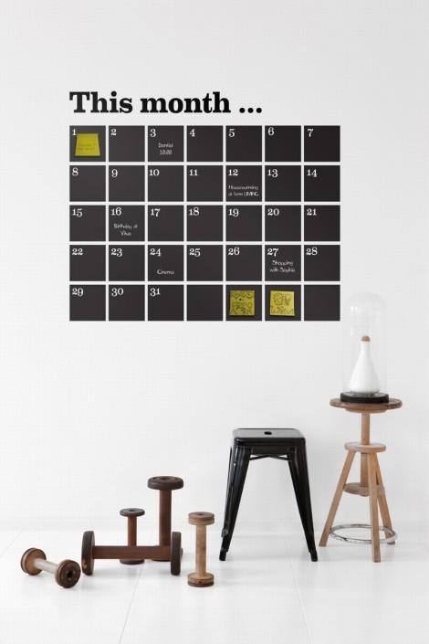 Väggkalender som stickers