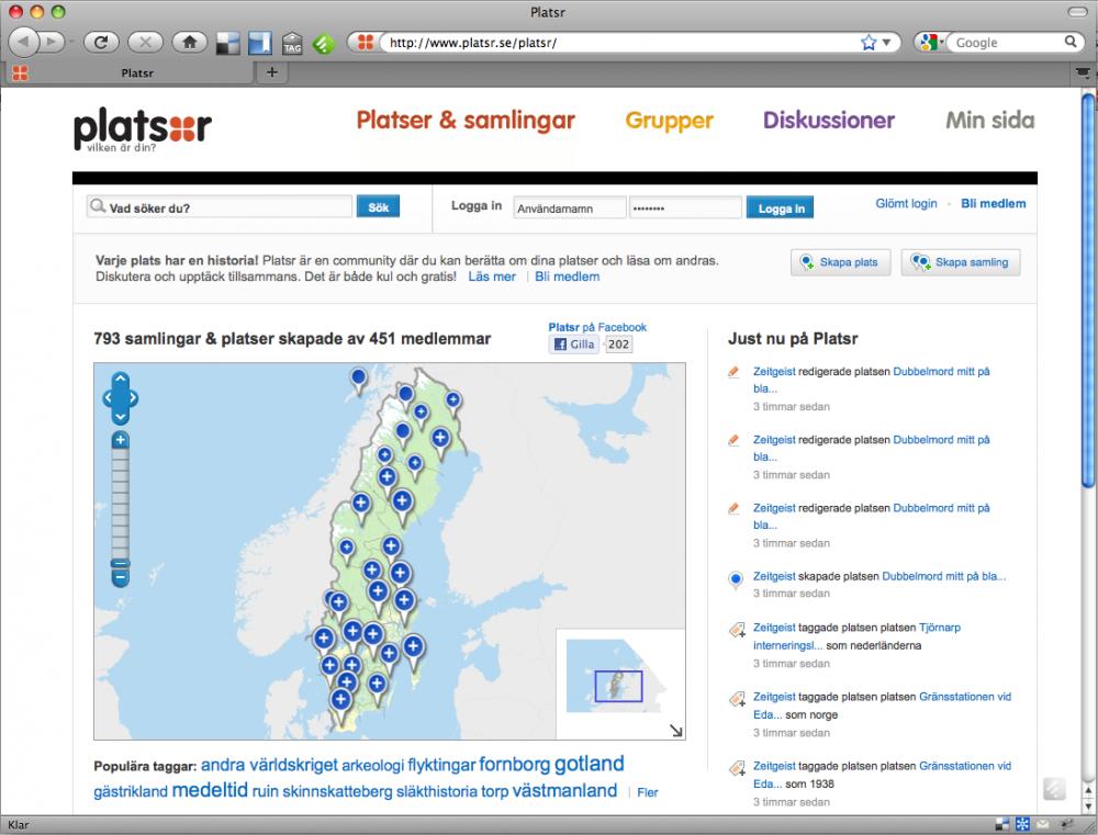 Platsr - Riksantikvarieämbetets sajt för historiska platser i Sverige.