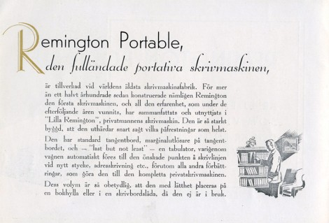 Remington Protable skrivmaskin