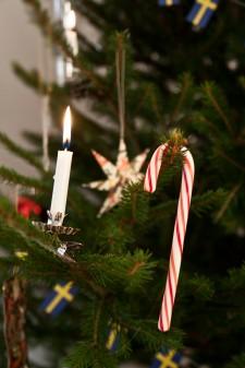 Gammaldags julgransljushållare
