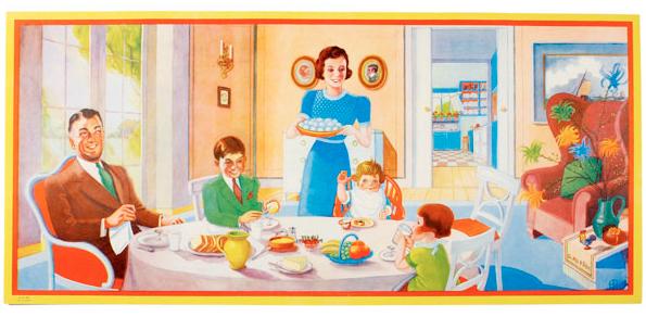 Påskbonad familjepåsk