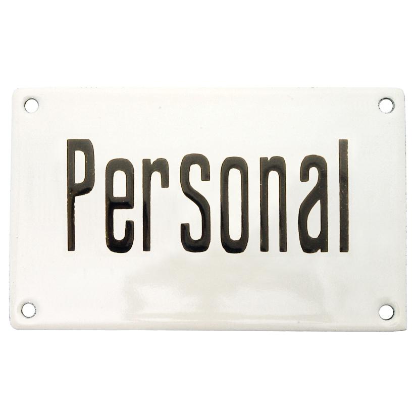 Emaljskylt personal