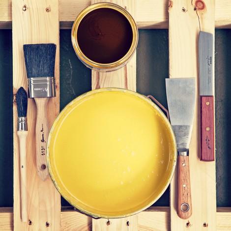 Linoljefärg och verktyg från Byggfabriken