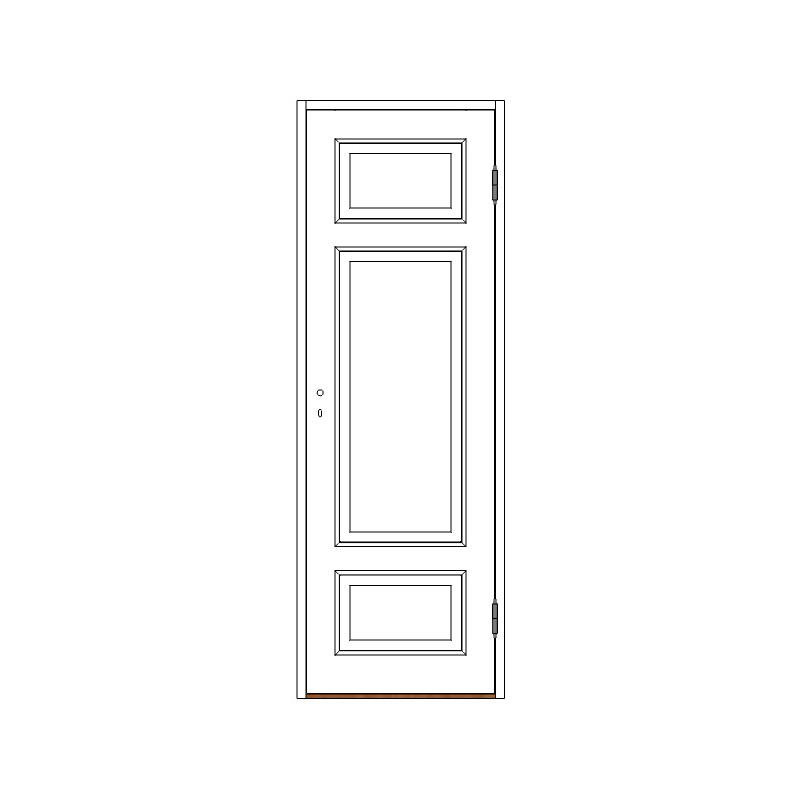 Innerdörr 3-spegel massiv - M7x20 H från Byggfabriken