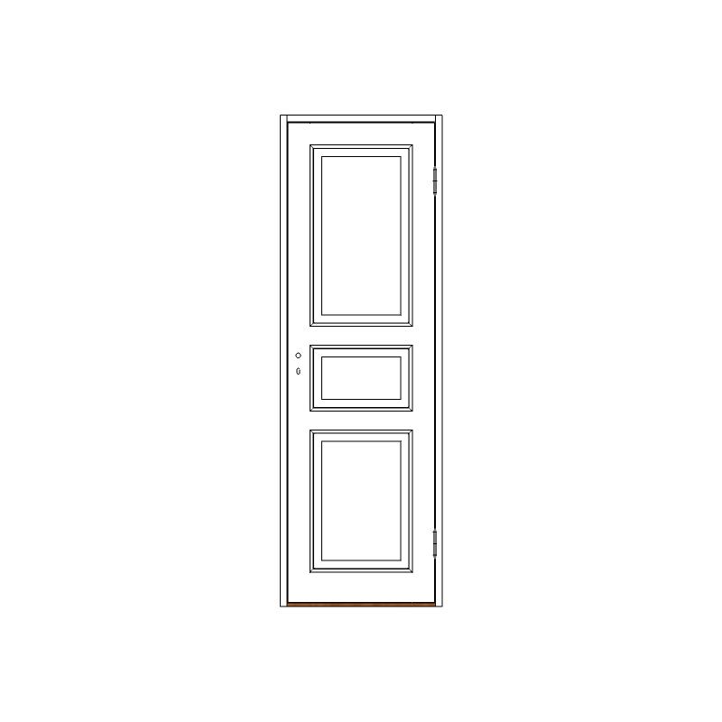 Innerdörr 3-spegel massiv - M7x21 H från Byggfabriken