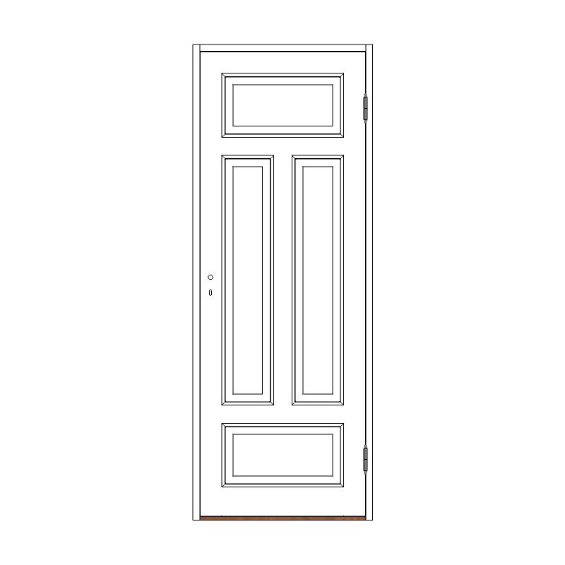 Innerdörr 4-spegel massiv - M8x21 H från Byggfabriken