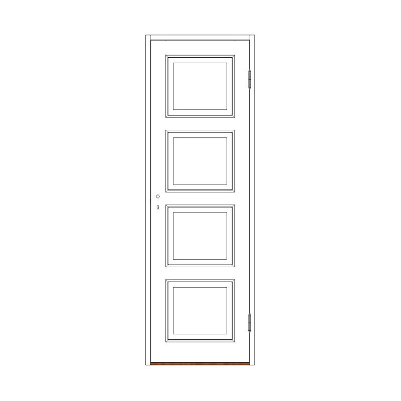 Innerdörr 4-spegel massiv - M7x21 H från Byggfabriken