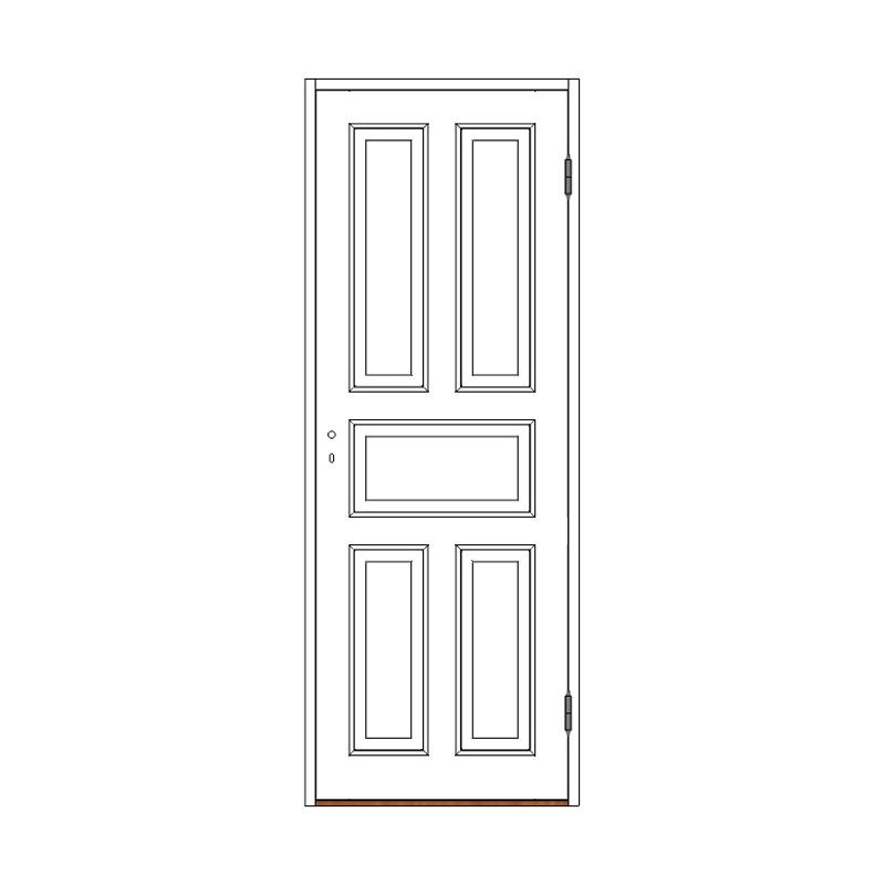 Innerdörr 5-spegel massiv - M8x20 H från Byggfabriken