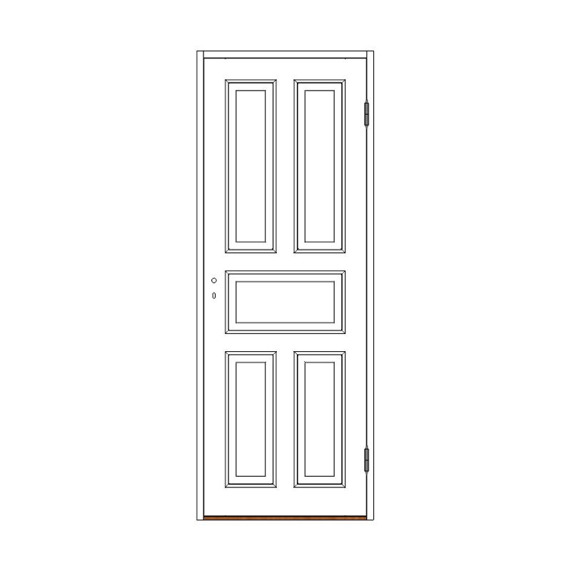 Innerdörr 5-spegel massiv - M8x21 H från Byggfabriken