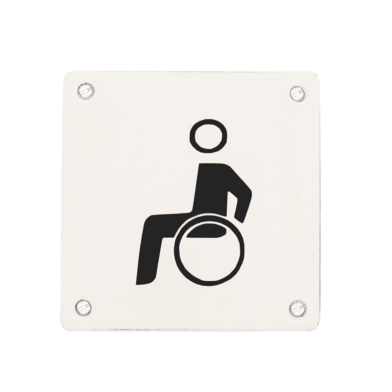 Emaljskylt, Handikapp från Byggfabriken