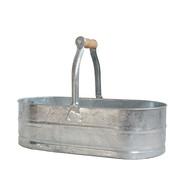 Oval zinkbalja obehandlad från Byggfabriken