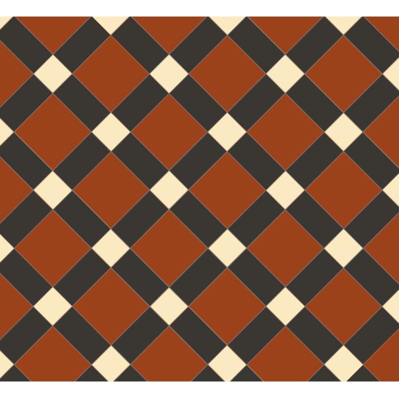 Edinburgh Red/Buff/Black från Byggfabriken