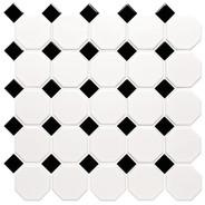Klinkermosaik Classic Octagon and Dot från Byggfabriken