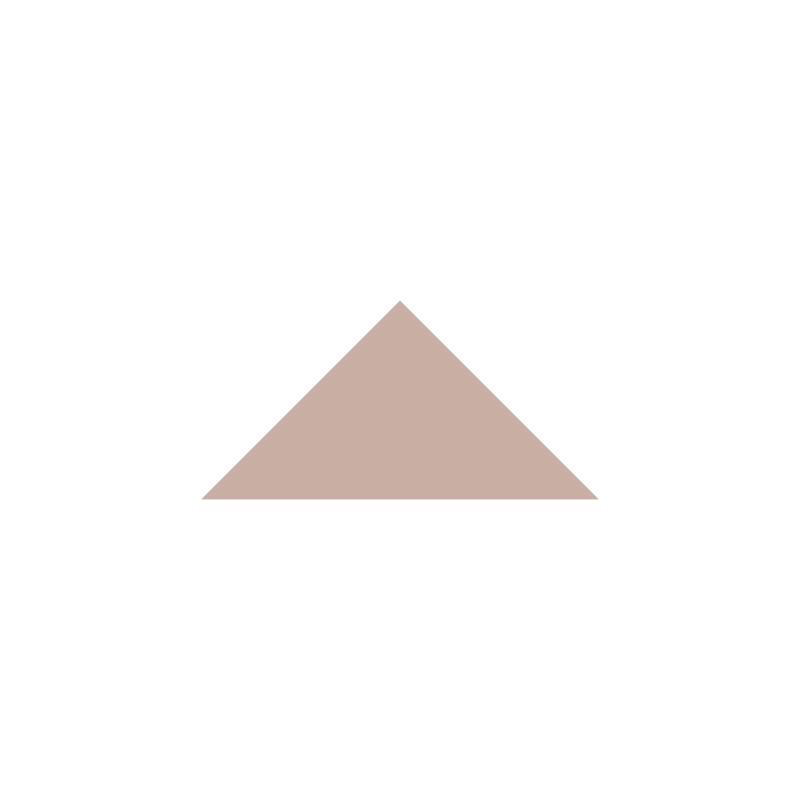 Triangle 73 mm - Carnation Pink från Byggfabriken