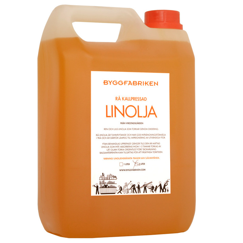 Linolja, Kallpressad Rå – 5 lit från Byggfabriken