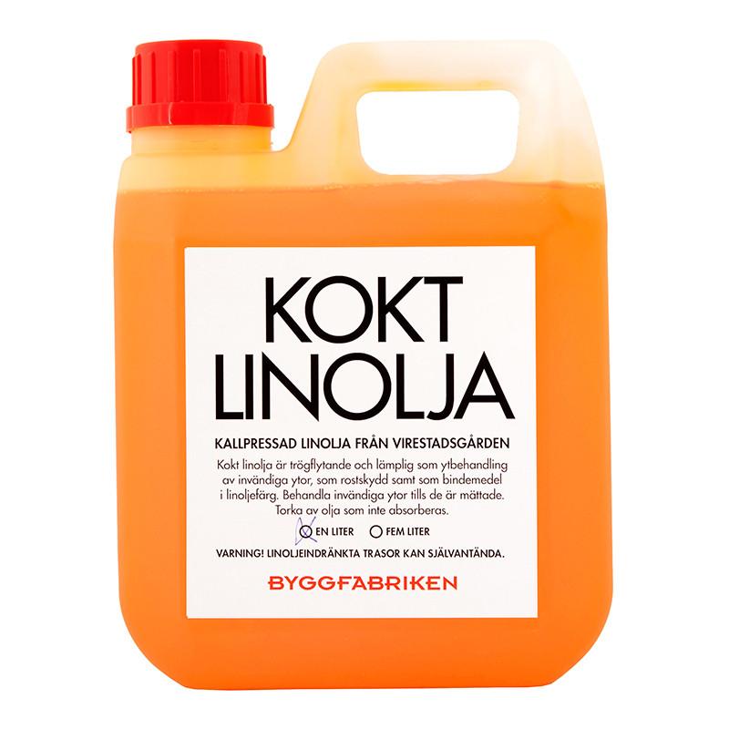 Linolja, Kallpressad Kokt – 1 lit från Byggfabriken