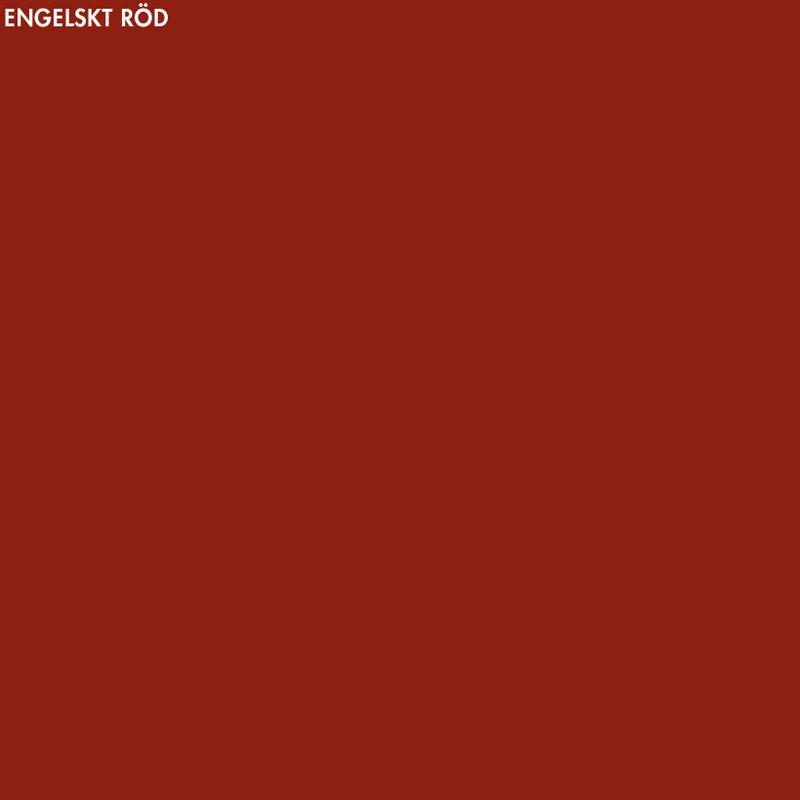Engelskt Röd linoljefärg – 1 lit från Byggfabriken