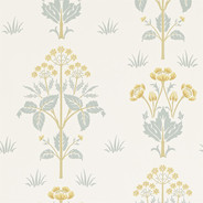 Tapet – Meadow Sweet Gold/Slate från Byggfabriken