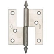 Gångjärn ekollon 74 mm från Byggfabriken