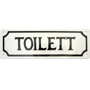 Emaljskylt, Toilett från Byggfabriken