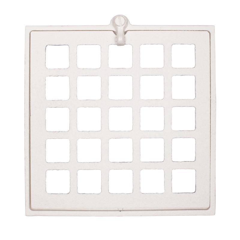 Ventil imkanal kvadratisk vit från Byggfabriken