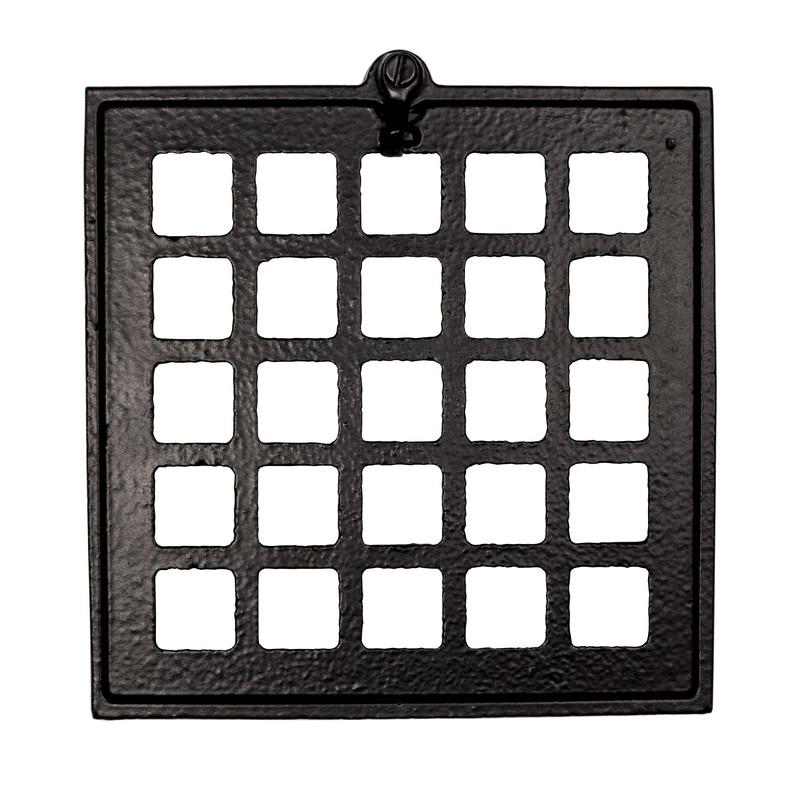 Ventil imkanal kvadratisk svart från Byggfabriken