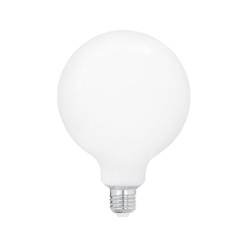 Ledlampa Glob 125 mm Opal E27, 330 lumen från Byggfabriken