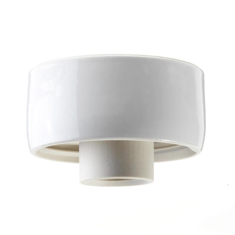 Vit lampsockel Rak IP20 från Byggfabriken