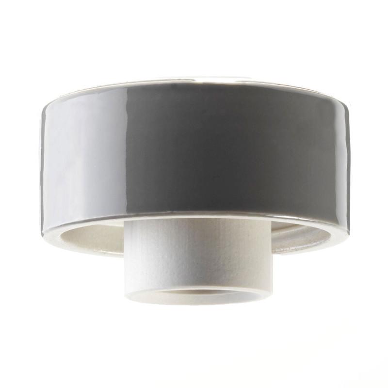 Grå lampsockel Rak IP20 från Byggfabriken