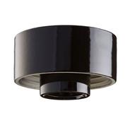 Svart lampsockel Rak IP20 från Byggfabriken