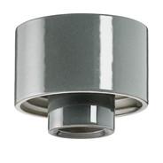 Grå lampsockel Rak IP54 från Byggfabriken