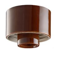 Brun lampsockel Rak IP54 från Byggfabriken