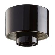 Svart lampsockel Rak IP54 från Byggfabriken