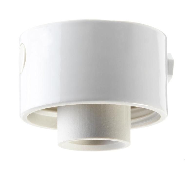 Vit lampsockel Rak IP54 från Byggfabriken