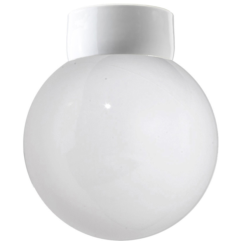 Vit lampa Rak IP54 från Byggfabriken