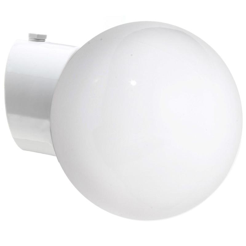 Vit lampa Sned IP54 från Byggfabriken
