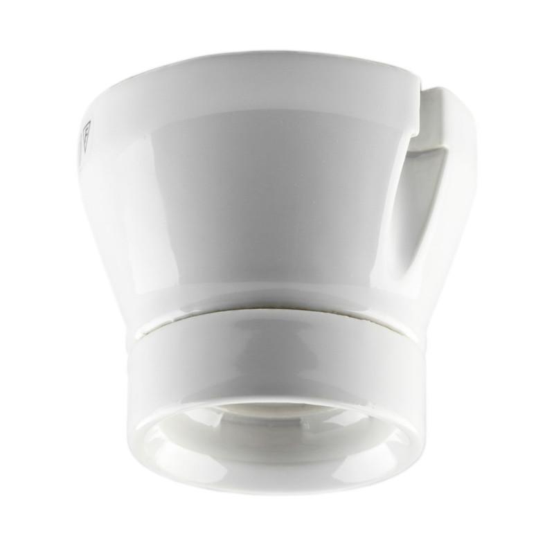 Vit rak fotlamphållare från Byggfabriken