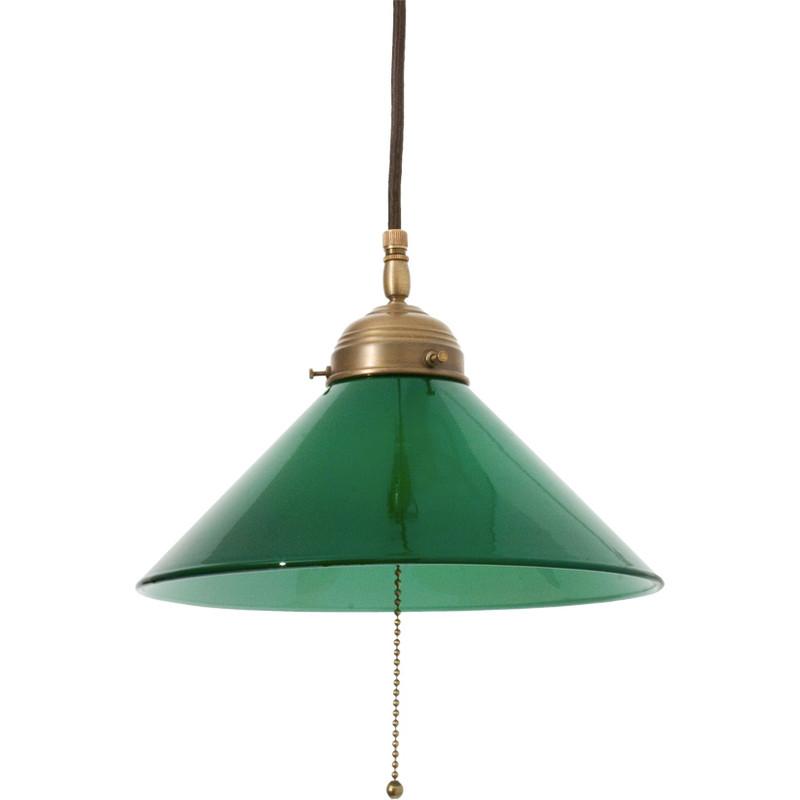 Skomakarlampa Grön 250 mm Kedja från Byggfabriken