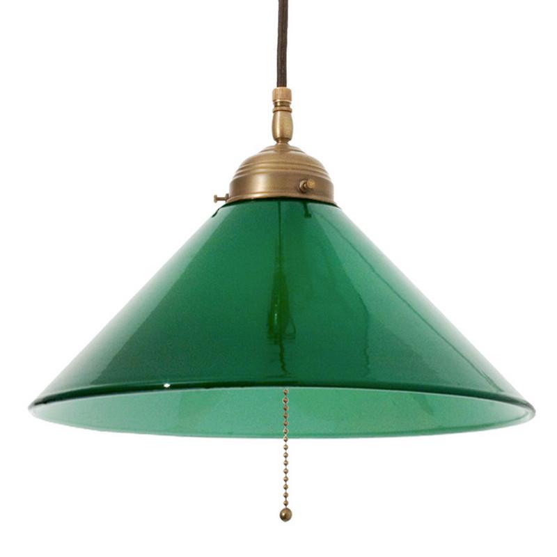 Skomakarlampa Grön 300 mm Kedja från Byggfabriken
