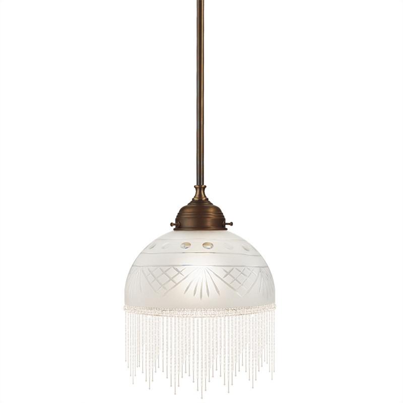 Pärlfranslampa vit 180 från Byggfabriken