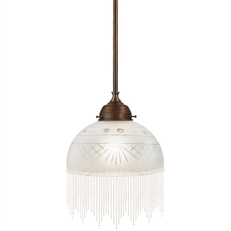 Pärlfranslampa vit 240 från Byggfabriken
