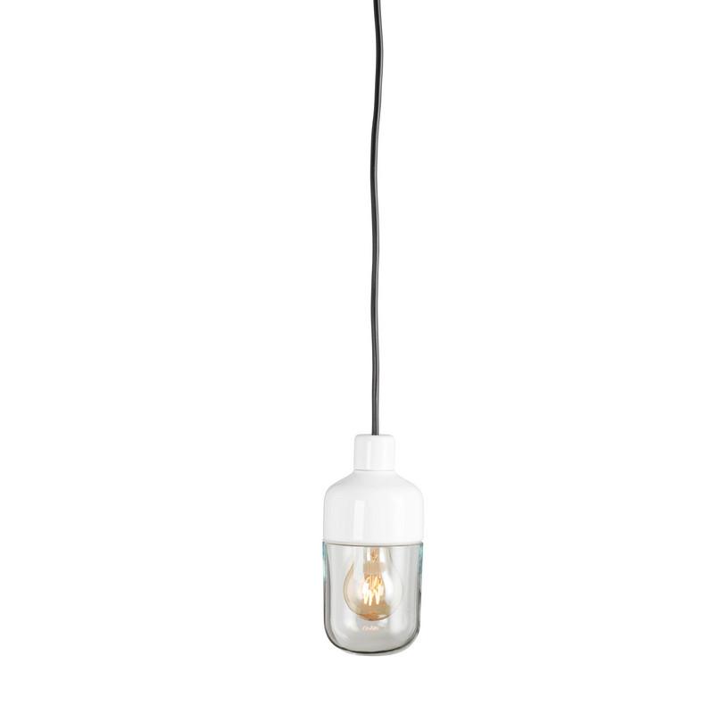 Ohm Pendel Utomhus 100 H215 Vit Klarglas från Byggfabriken