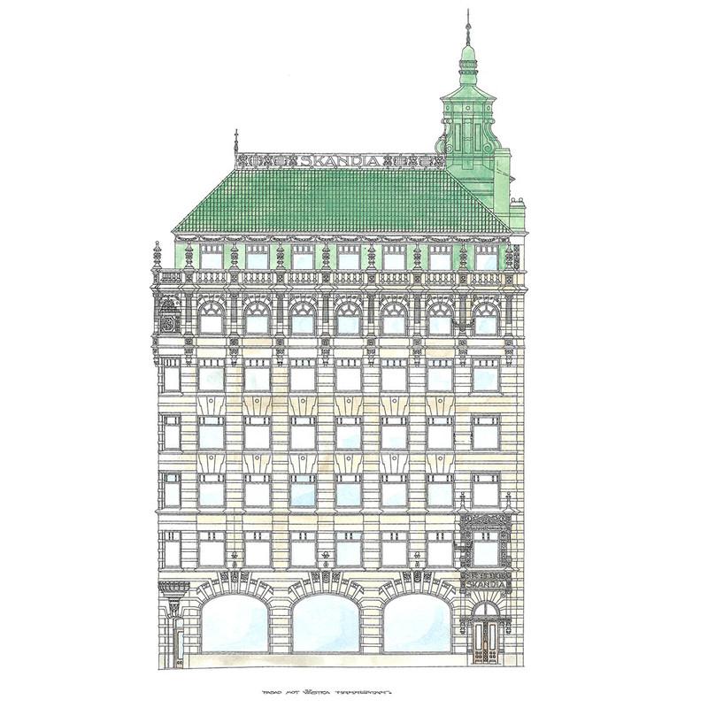 Fasadritning Västra Hamngatan från Byggfabriken