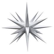 Julstjärna Hernhut Ute Vit 68 cm från Byggfabriken