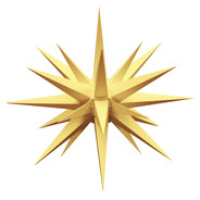 Julstjärna Hernhut Ute Gul 68 cm från Byggfabriken