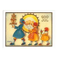Julkort - Barn med ljus från Byggfabriken