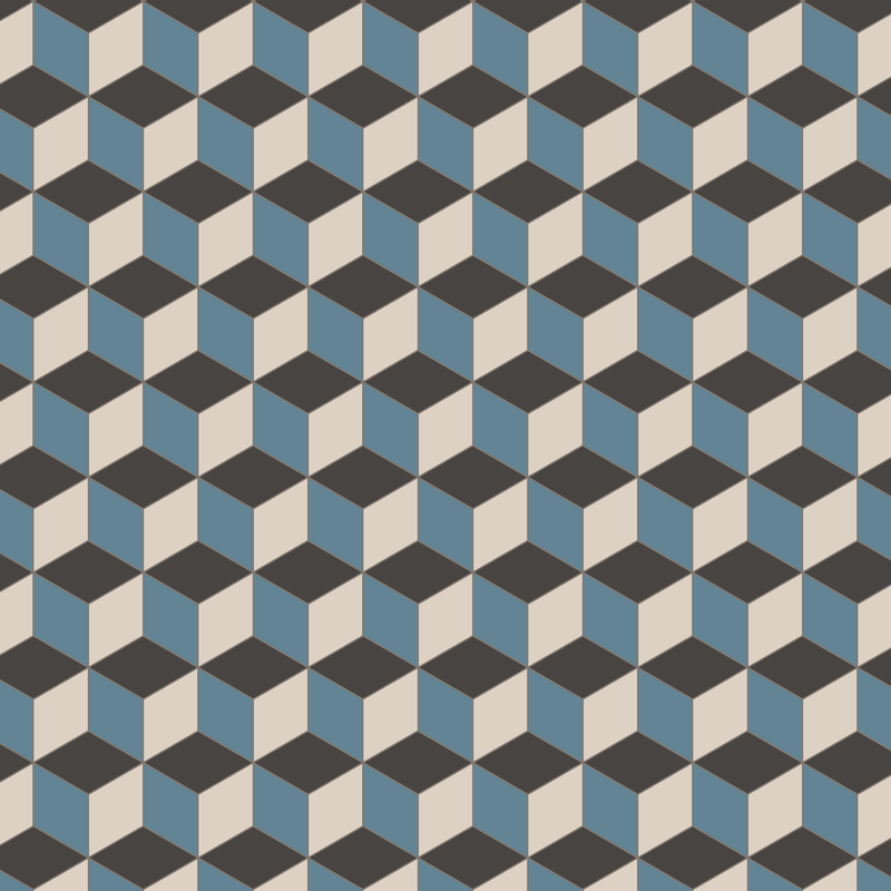 Bloomsbury Blue/Dover White/Black KVM från Byggfabriken