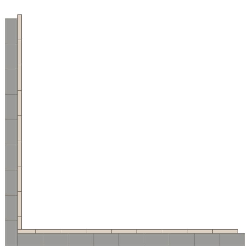 Border 75+24 Grey/Dover White LPM från Byggfabriken