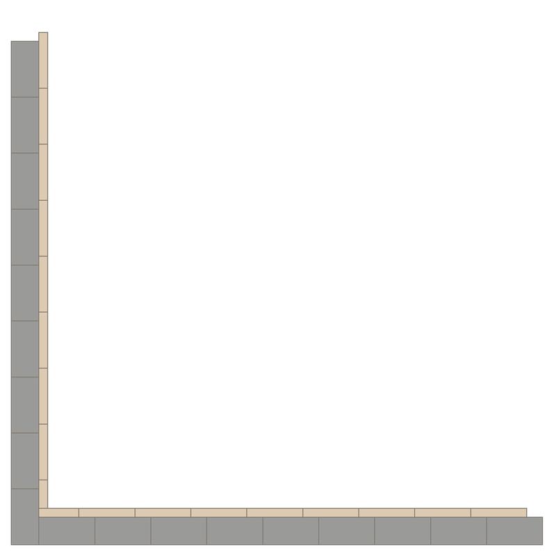 Border 75+24 Grey/White LPM från Byggfabriken